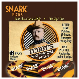 Snark Picks 1.07mm Teddy's Neo Tortoise, 12 Pack