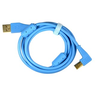 DJ Tech Tools Chroma Angled USB Cable, Blue - Cable