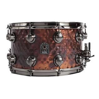 Natal 'Meta Series' Steel Hammered 14x6.5 Snare Drum