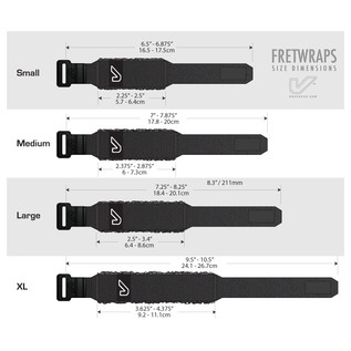 Gruv Gear Black FretWraps 3-Pack, Small