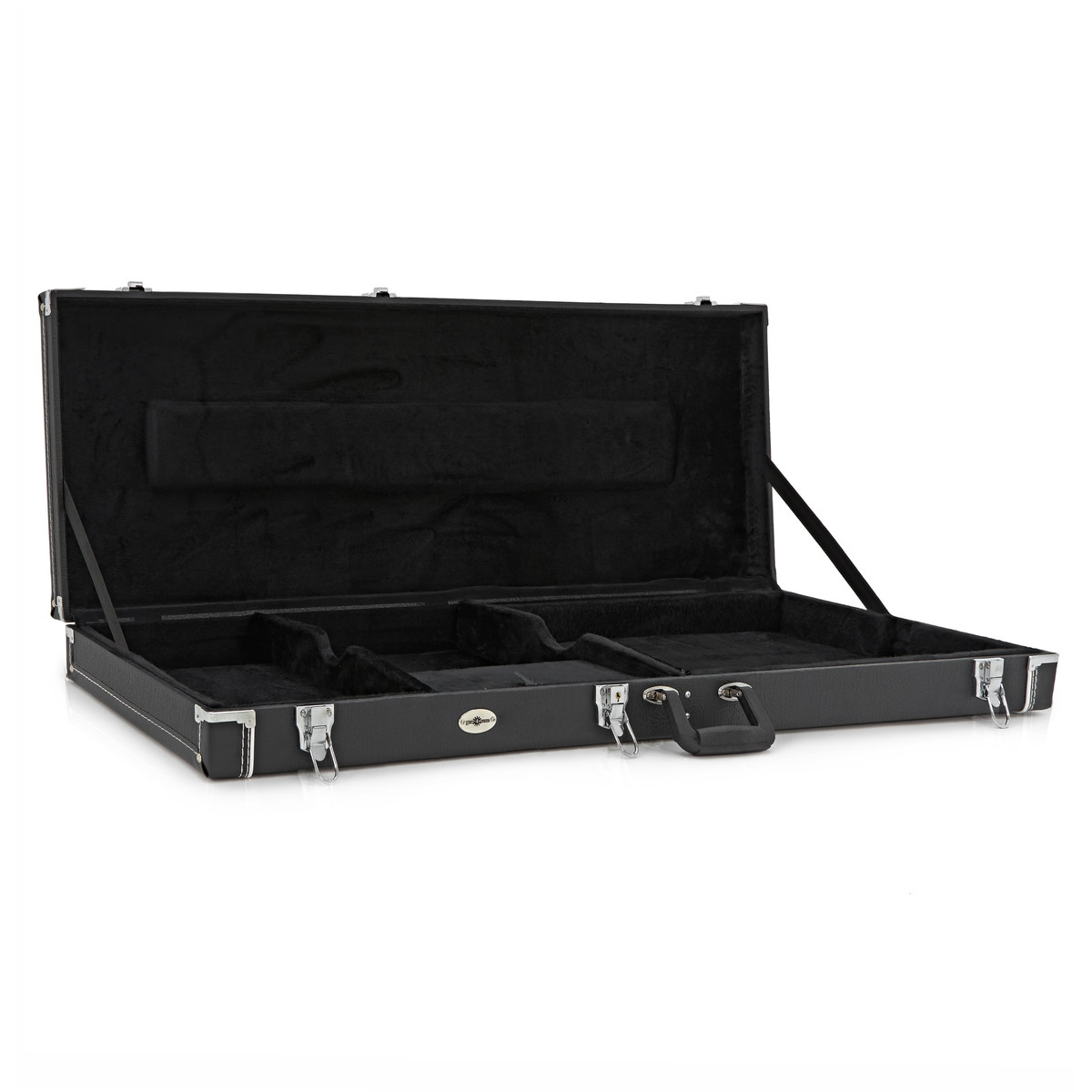 electric guitar case by gear4music black box opened at. Black Bedroom Furniture Sets. Home Design Ideas