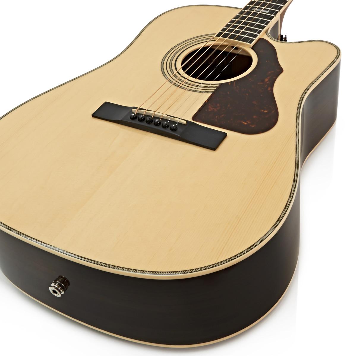 silvertone 955ce elektro akustik gitarre natur b ware. Black Bedroom Furniture Sets. Home Design Ideas