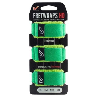 Gruv Gear FretWraps HD Leaf Green 3-Pack, Small