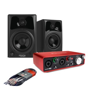 Focusrite Scarlett 2i2, 2nd Gen with Denon DN-304SAM Monitors