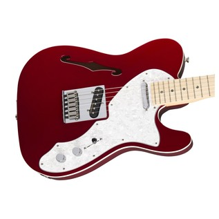 Fender Deluxe Telecaster Thinline Electric Guitar, Red