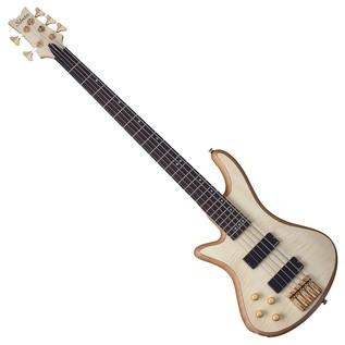 Schecter Stiletto Custom-5 Left Handed Bass Guitar,Natural