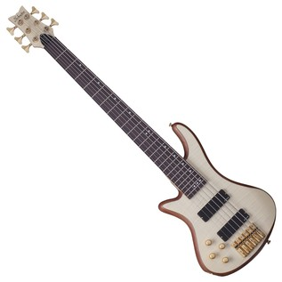 Schecter Stiletto Custom-6 Left Handed Bass Guitar, Natural