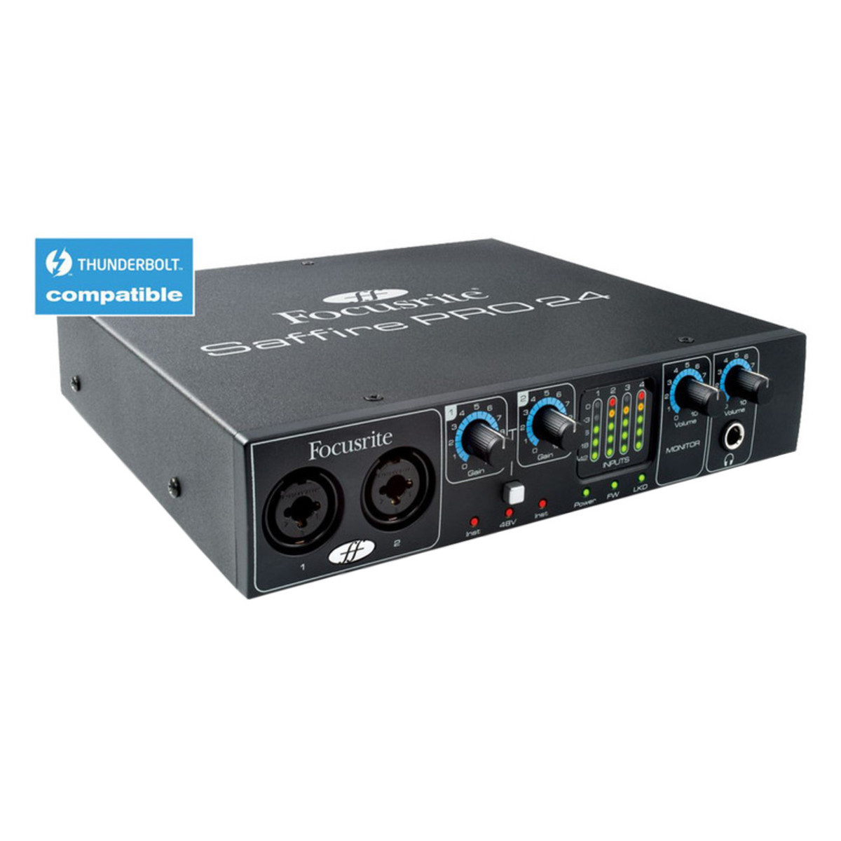 focusrite saffire pro 24 firewire and thunderbolt audio interface box opened at. Black Bedroom Furniture Sets. Home Design Ideas