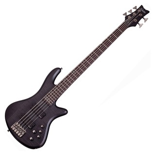 Schecter Stiletto Studio-5 Bass Guitar, See-Thru Black