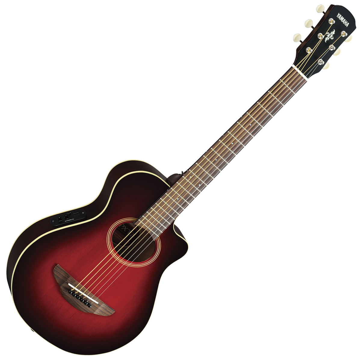 Yamaha apxt2 3 4 electro acoustic guitar dark red burst for 3 4 yamaha acoustic guitar