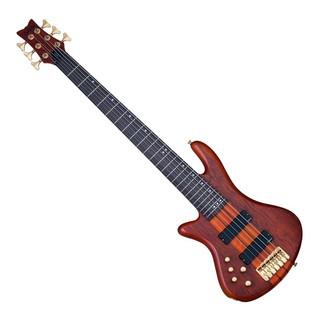 Schecter Stiletto Studio-6 Left Handed Bass Guitar,Honey Satin