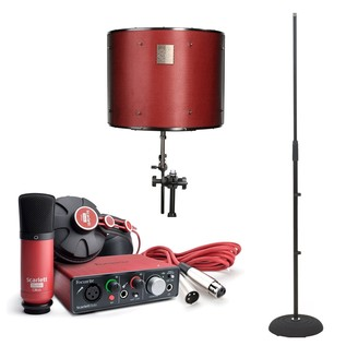 Focusrite Scarlett Solo Studio with LTD sE Reflexion Filter Pro