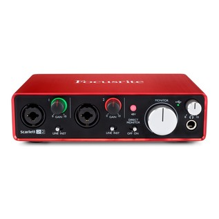 Focusrite Scarlett Studio with LTD sE Reflexion Filter Pro - Interface Front