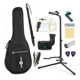 Yamaha F370DW Acoustic Guitar, Sunburst with Accessory Pack