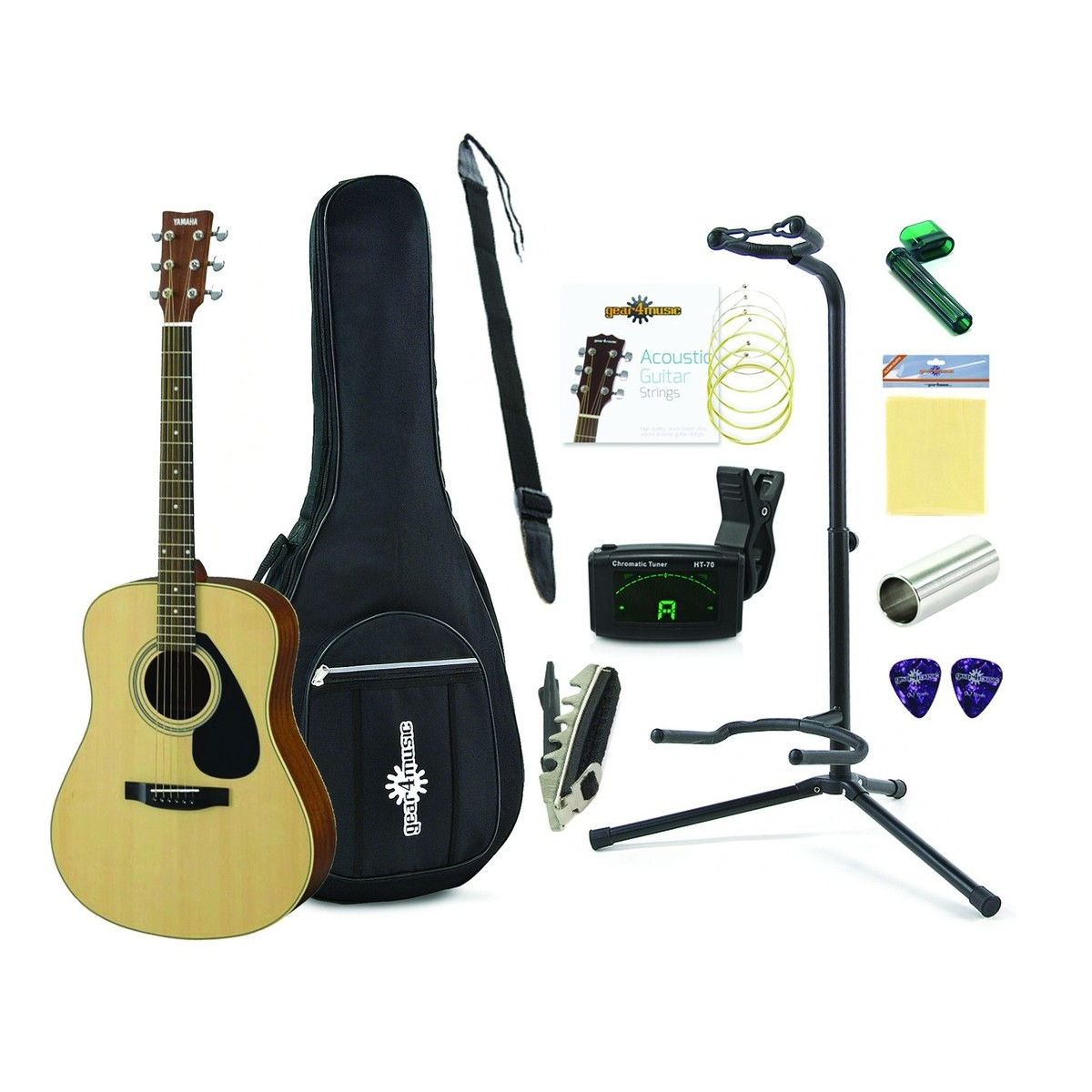 Yamaha F370dw Acoustic Guitar Natural With Accessory Pack