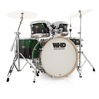 WHD Birch 5 Piece Short American Fusion Drum Kit, Green Fade