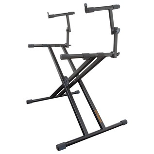 Roland KS-22X Double Braced Keyboard Stand, 2 Tier - Angled