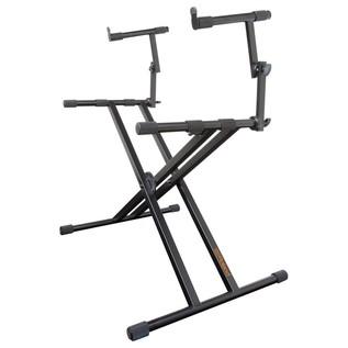 Roland KS-22X Double Braced Keyboard Stand, 2 Tier - Angled