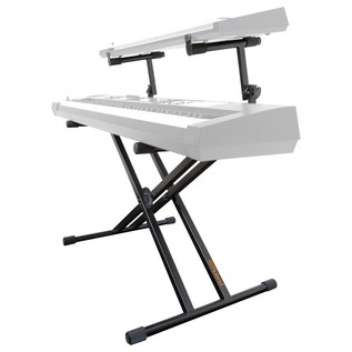 Roland KS-22X Double Braced Keyboard Stand, 2 Tier - Angled (Keyboard Not Included)