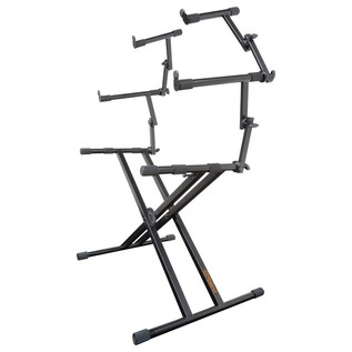 Roland KS-32X Double Braced Keyboard Stand, 3 Tier - Angled