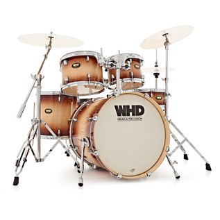 WHD Birch 5 Piece Fusion Drum Kit, Tobacco Burst