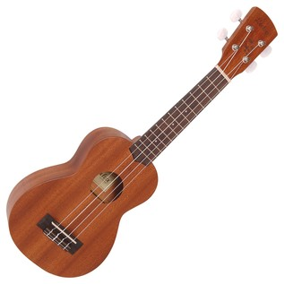 Laka VUS50EA Soprano Electro Acoustic Ukulele, Mahogany