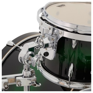 WHD Birch 5 Piece Rock Custom Drum Kit, Green Burst