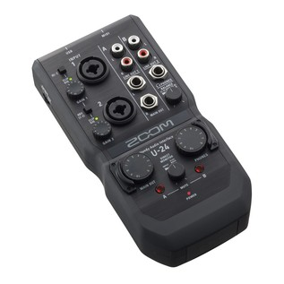 Zoom U-24 Recording Bundle - Zoom U-24 Angled
