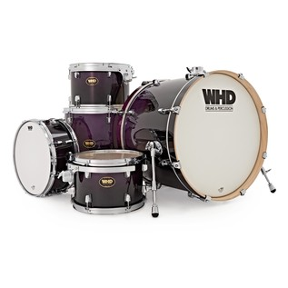 WHD Birch 5 Piece Rock Drum Kit, Purple Fade