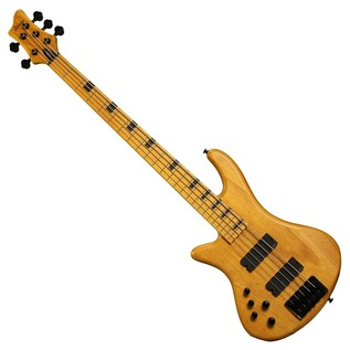 Schecter Stiletto Session-5 Left Handed Bass Guitar, Aged Natural