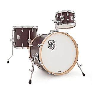 SJC Drums Club Series 3 Piece Shell Pack, Burgundy Satin Stain
