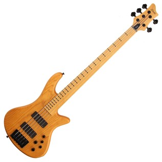 Schecter Stiletto Session-5 FL Bass Guitar, Aged Natural Satin