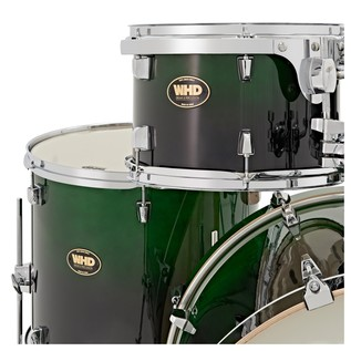 WHD Birch 5 Piece Short American Fusion Complete Drum Kit, Green Fade
