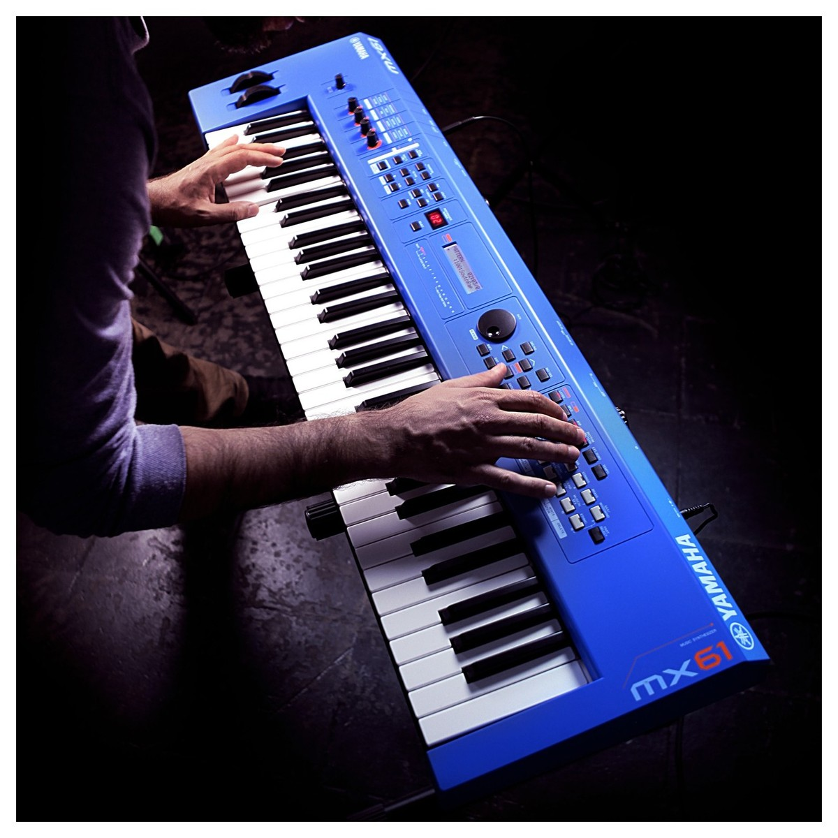 Yamaha MX61 II Music Production Synthesizer, Blue at ...
