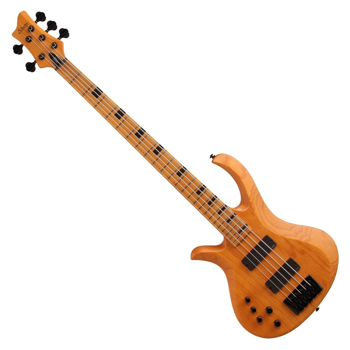 schecter riot session 5 left handed bass guitar aged natural satin at. Black Bedroom Furniture Sets. Home Design Ideas