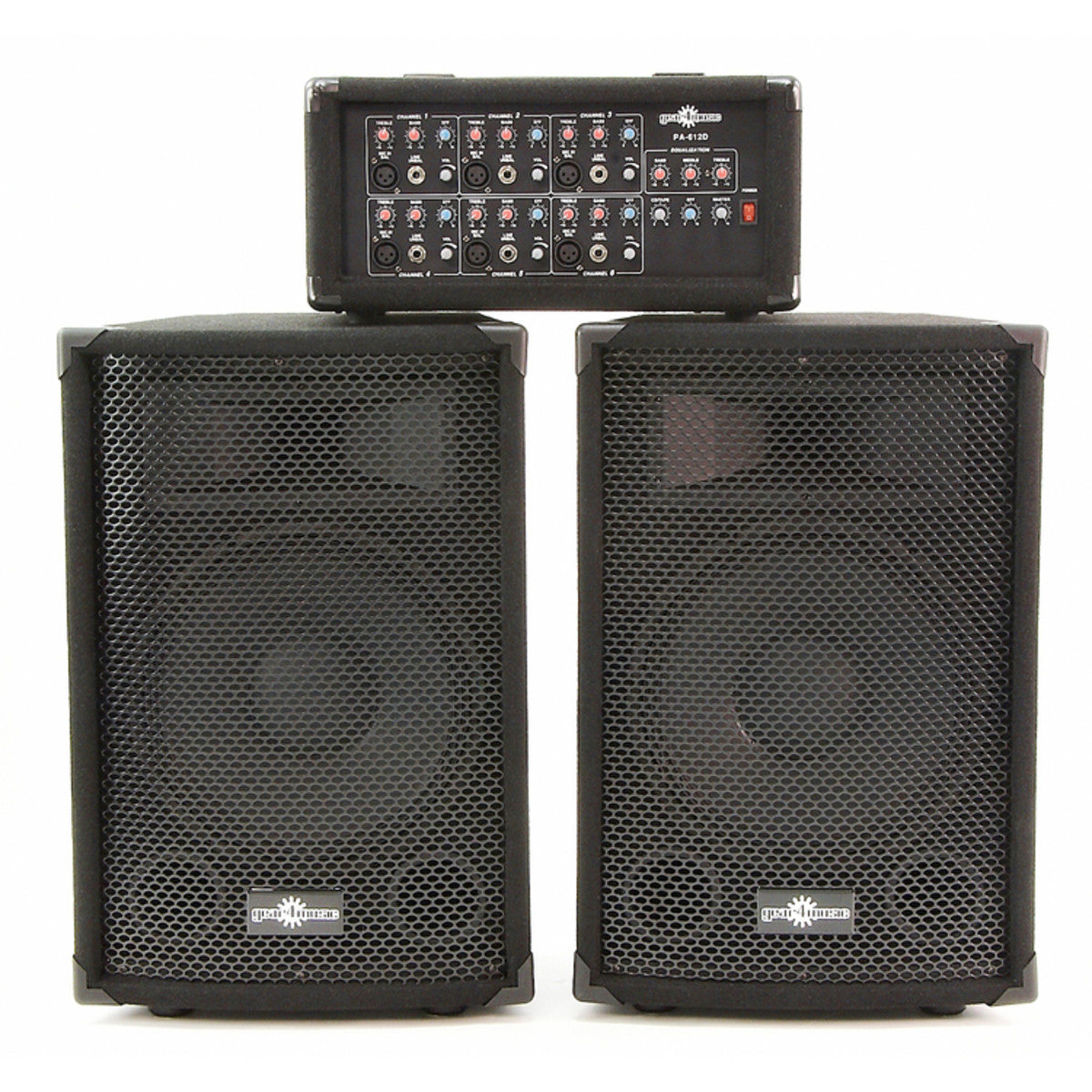 200w pa system with mixer speakers at. Black Bedroom Furniture Sets. Home Design Ideas