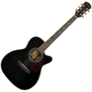 Freshman Apollo 2 OCB Grand Aud. CA Electro Acoustic Guitar, Black