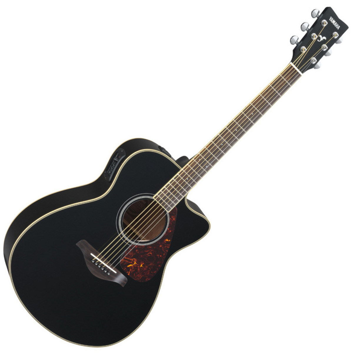 yamaha fsx720s elektro akustik gitarre schwarz auf. Black Bedroom Furniture Sets. Home Design Ideas