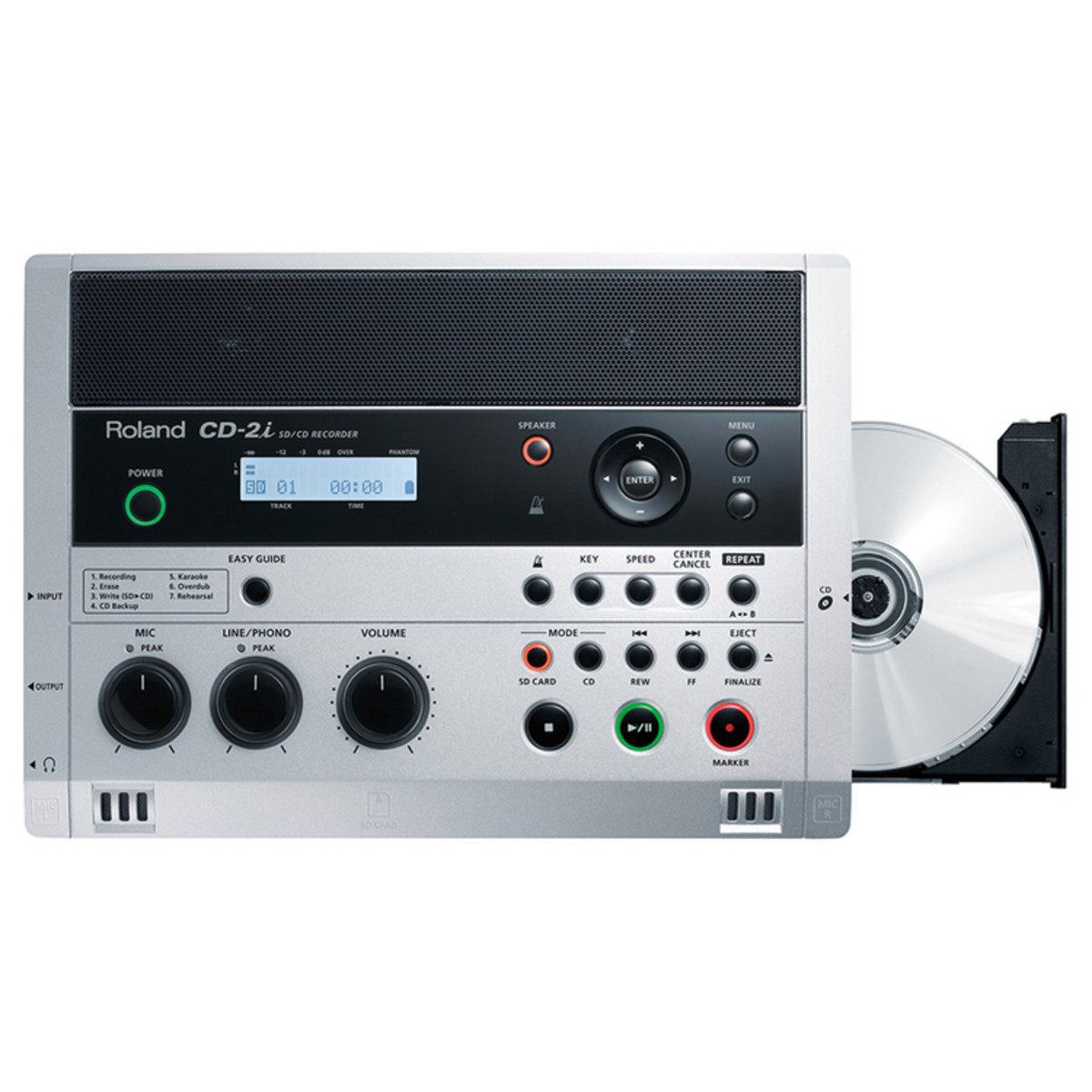 Roland cd 2i sd cd portable audio recorder at - Mobile porta cd ...