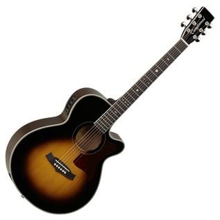 Tanglewood TW45VSE Electro Acoustic Guitar, Vintage Sunburst