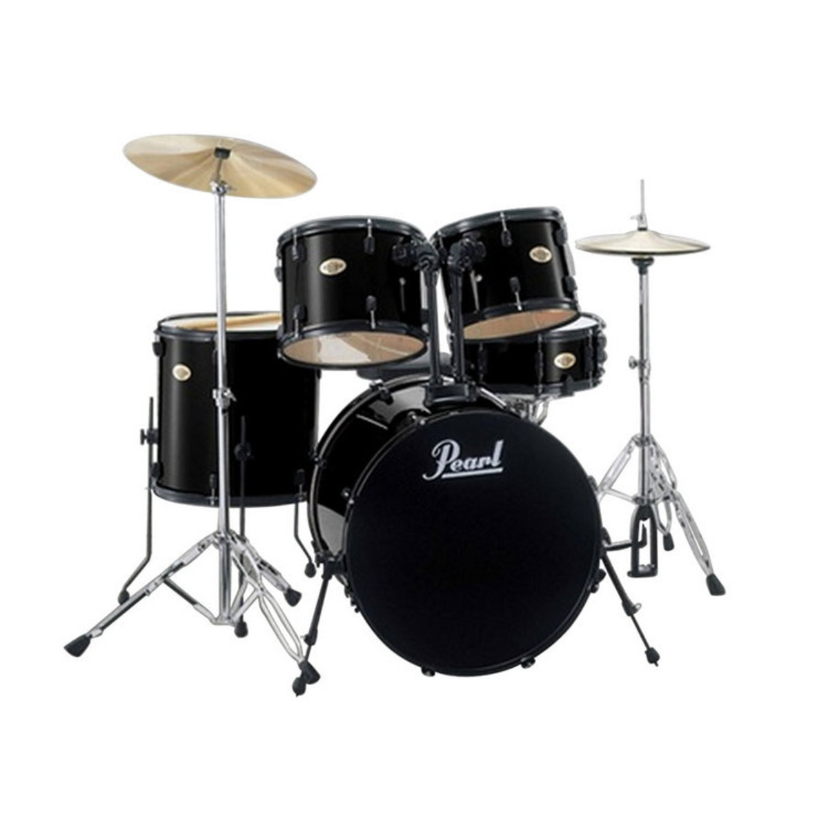 disc pearl target drum kit black with black hardware at. Black Bedroom Furniture Sets. Home Design Ideas