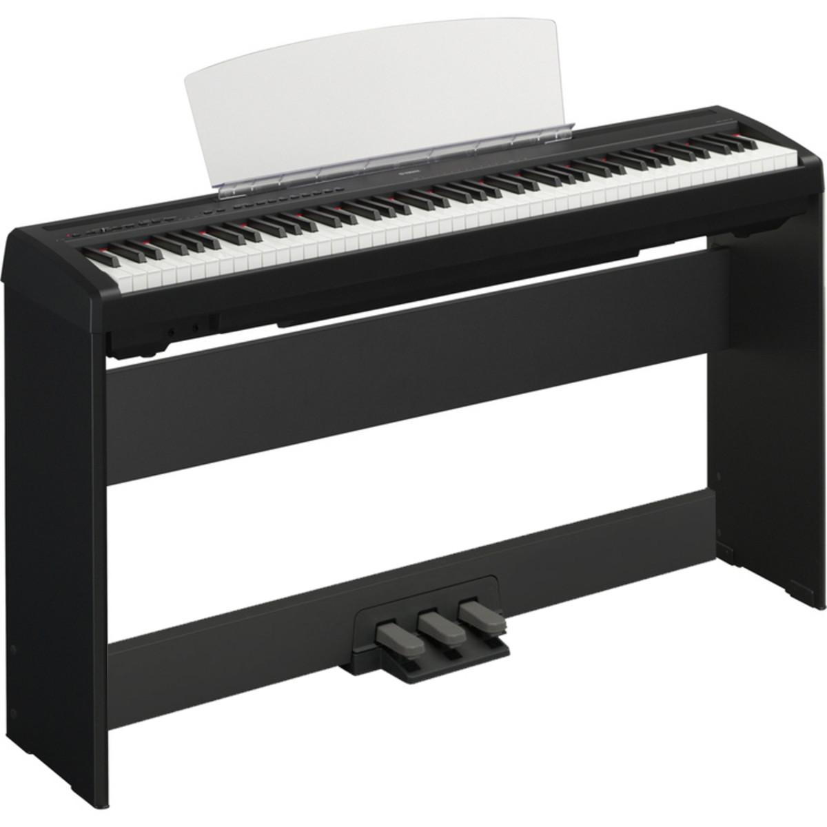 piano digital yamaha p 95 soporte y pedalera negro en. Black Bedroom Furniture Sets. Home Design Ideas