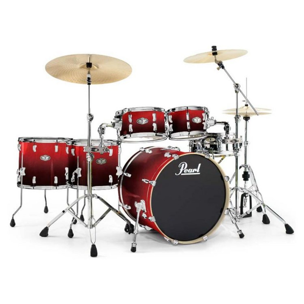 DISC Pearl Vision VBX Hyperdrive Birch Kit In Ruby Fade