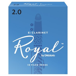 Royal by D'Addario Eb Clarinet Reeds 2.0 Strength, Pack of 10