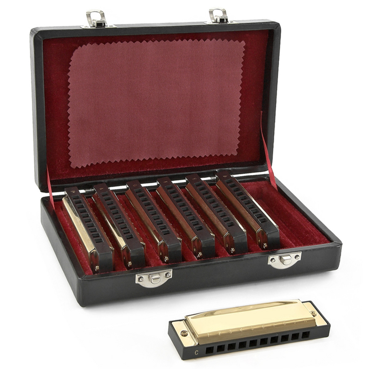 Image of Blues Golden Harmonica Set by Gear4music
