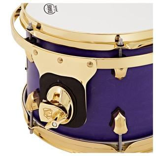 SJC Drums Tour Series 22'' 3 Piece Shell Pack, Purple Stain, Brass HW