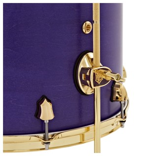 SJC Drums Tour Series 22'' 3 Piece Shell Pack, Purple Stain, Brass HW