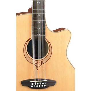 Luna Heartsong 12 String Electro Acoustic Guitar with USB