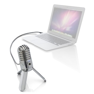 Samson Meteor USB Studio Microphone - Mic Angled (Laptop Not Included)
