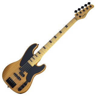 Schecter Model-T Session-5 Bass Guitar, Aged Natural Satin
